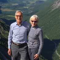 Rick Hamlin and wife Carol during the journey through Scandinavia
