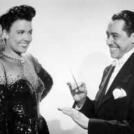 Bill Robinson, Lena Horne and Cab Calloway in a scene from Stormy Weather