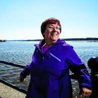 Gail Bindewald by the water