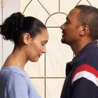 Guideposts: A husband and wife pray together.