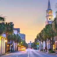 Charleston, South Carolina, USA in the French Quarter at twilight (Getty Images)