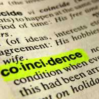 Definition of coincidence in a dictionary; Getty Images