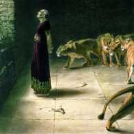 Illustration of Daniel in the Lions Den