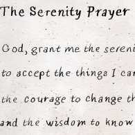 Illustration of the Serenity Prayer