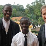 Hillary Tumwesige (middle) with appeals lawyers