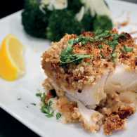 Baked Lemon Cod with Broccoli
