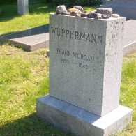 A tombstone that reads Frank Morgan 1890 - 1949.