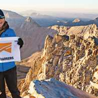 Adele (on Mount Whitney's summit) likes the No Barriers motto: What's within you is stronger than what's in your way.