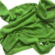 A green turtleneck sweater; Getty Images