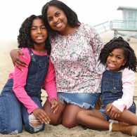 Phnesha with her daughters, Gabby (left) and Gigi