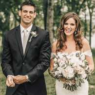 Kyle and Kristen Grigsby on their wedding day; Photo credit: Brad and Jen Photography
