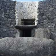 Newgrange Tomb Entrance in Ireland