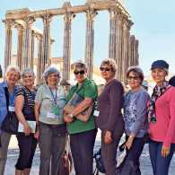 Guideposts: Maggie (second from left) and her travel companions on a Guideposts tour of Portufgal