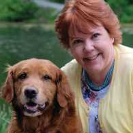 Peggy Frezon and her dog (photo by Roy Gumpe)