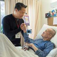 Richard Lui with his father