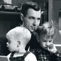 Fred Rogers with his sons