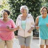 Senior women exercising together (Getty Images)