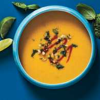 Thai Butternut Squash Soup With Peanut Gremolata