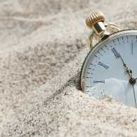 Clock in the sand