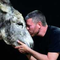 Ron King, executive director at Oscar's Place Adoption Center and Sanctuary, and a rescue donkey