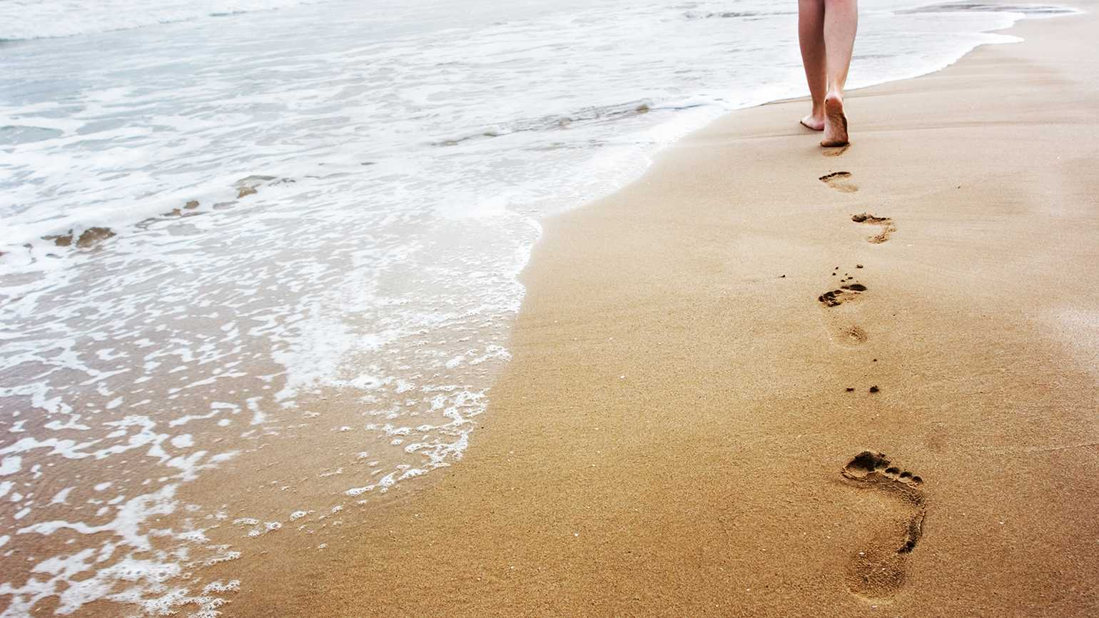 Dear Aging contest winner grateful for life and walk on the beach.