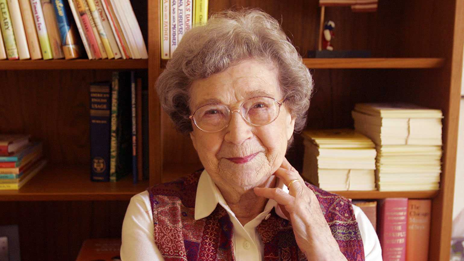 Author Beverly Cleary; photo by San Francisco Chronicle/Hearst Newspapers via Getty Images