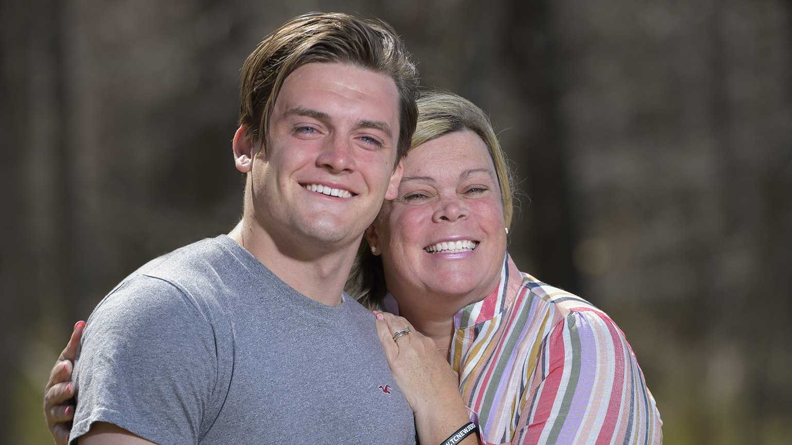 Heather Henry and her son Tim;  photo by Jim Graham