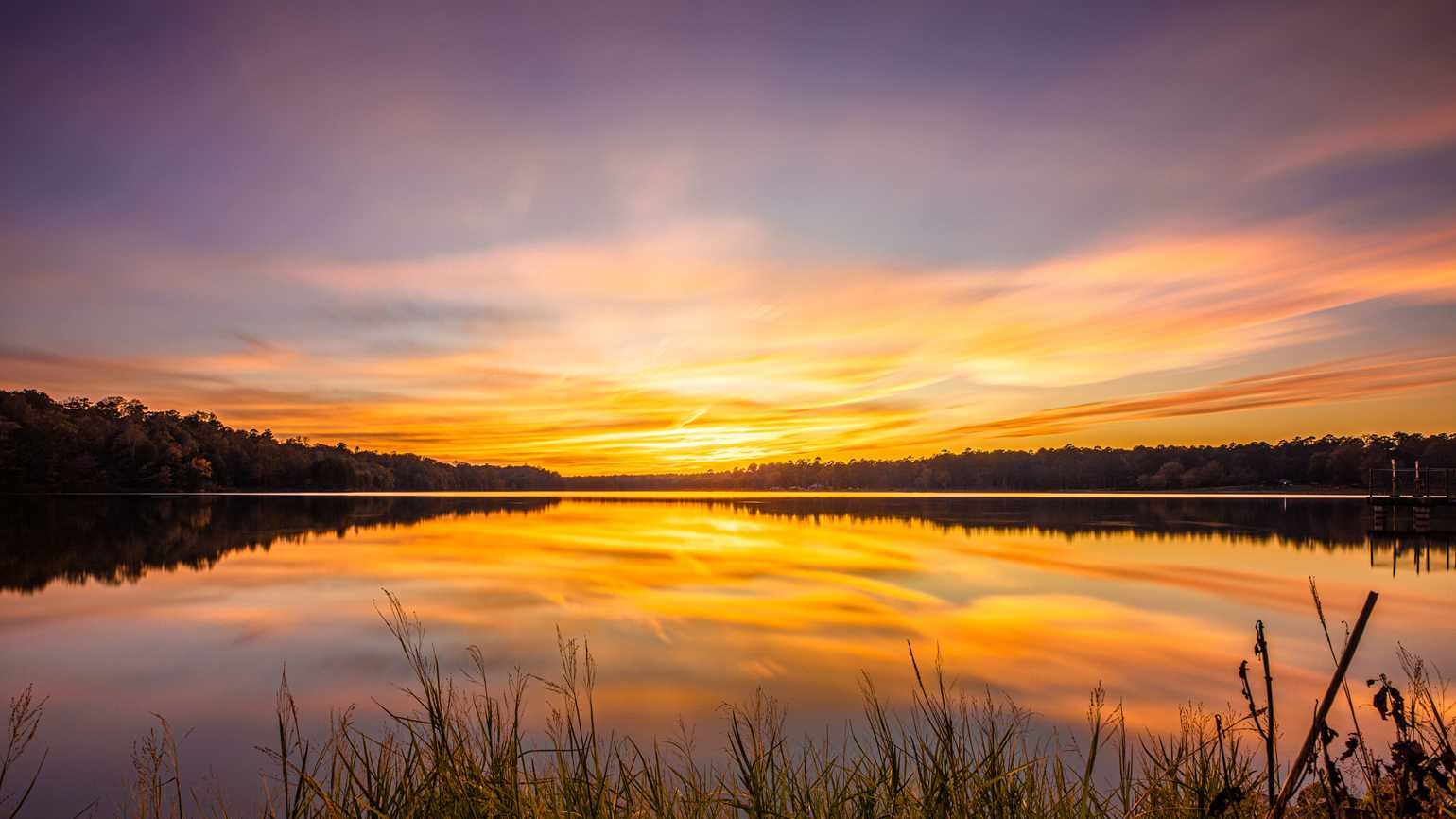 Sunset by a lake; Getty Images