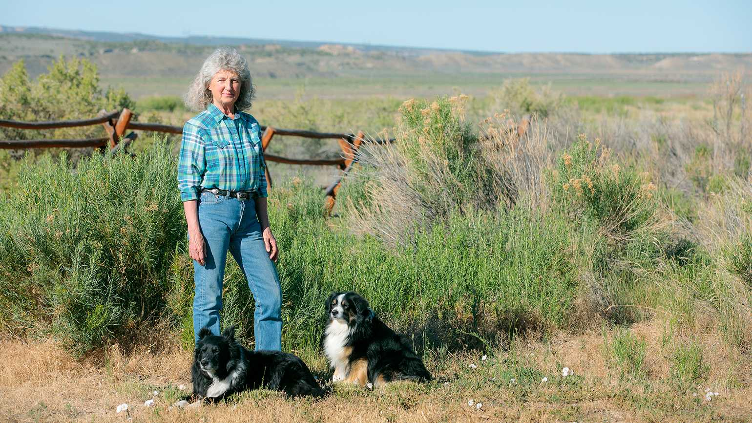 Lou Dean and her dogs, Tuck and Dell