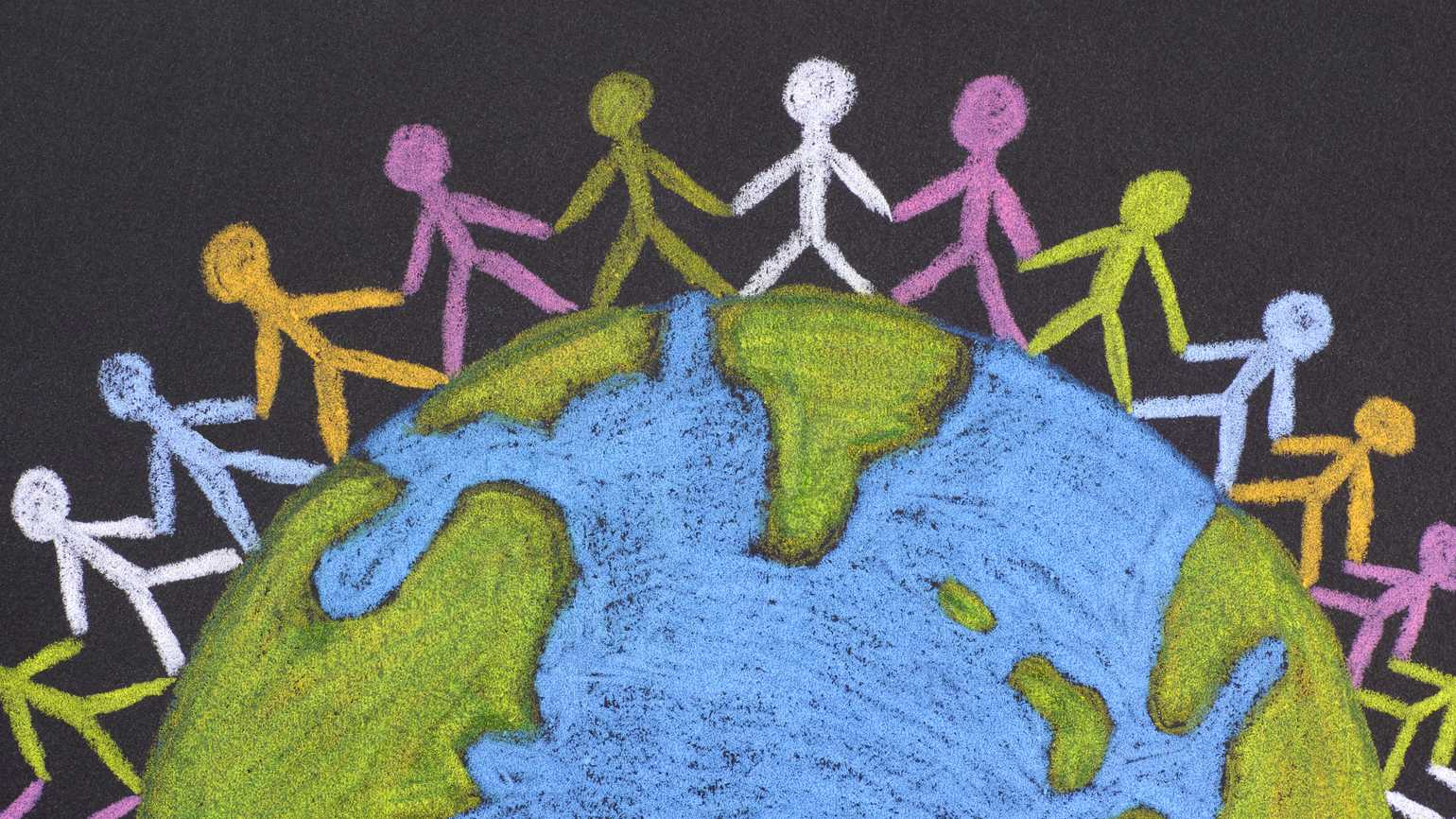 Group of people around the world.
