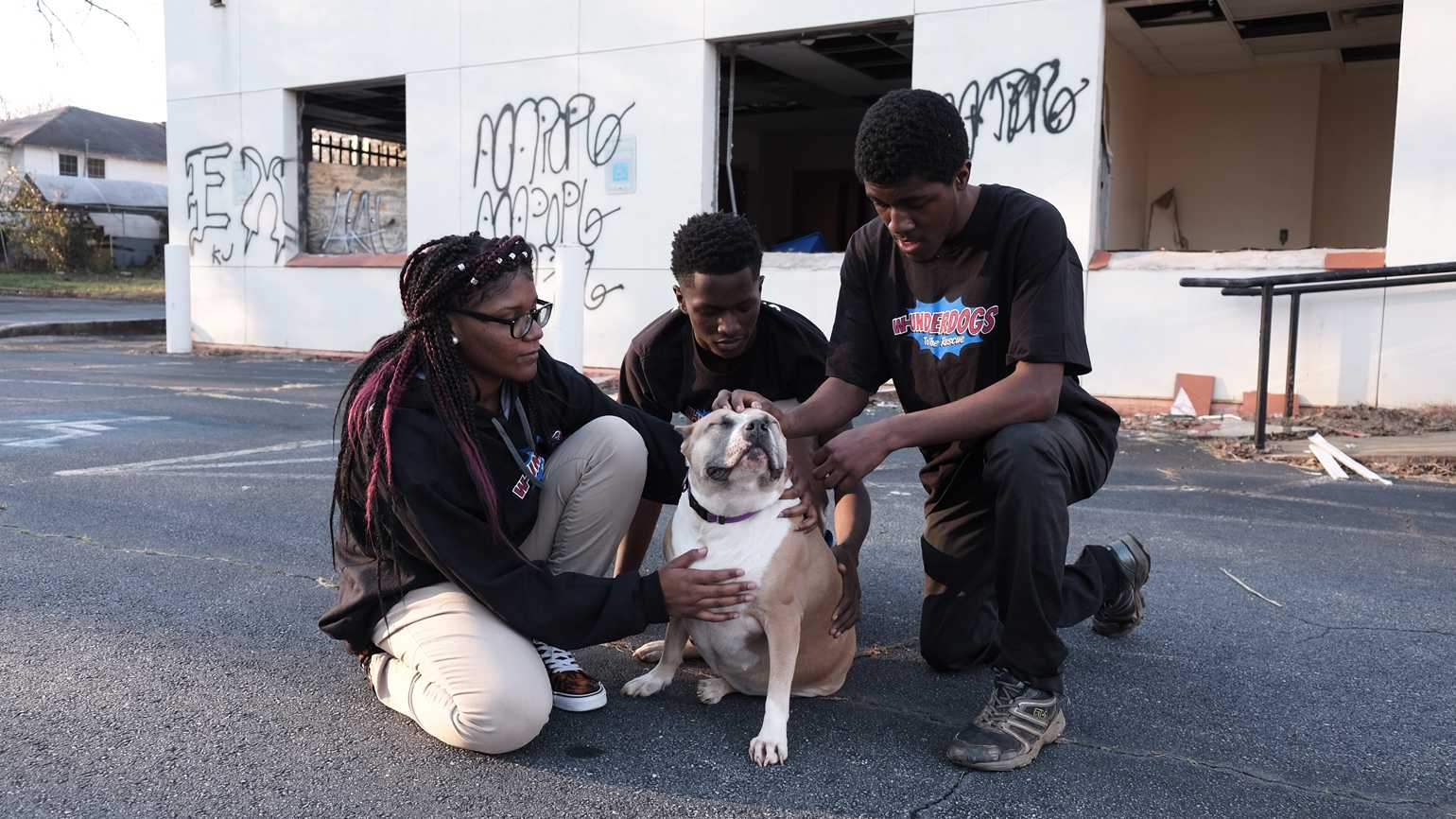 Cydney, James and Thomas of the W-Underdogs team. Photo credit: Roy Gumpel