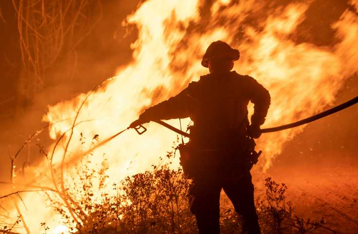 Firefighter in California