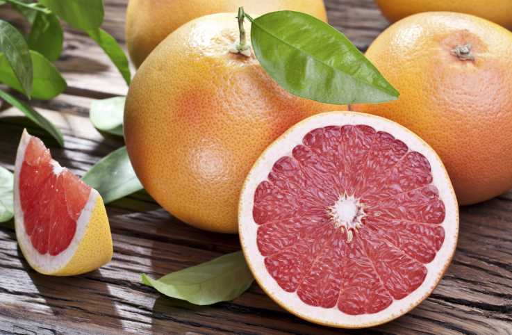 Fresh grapefruit for spring