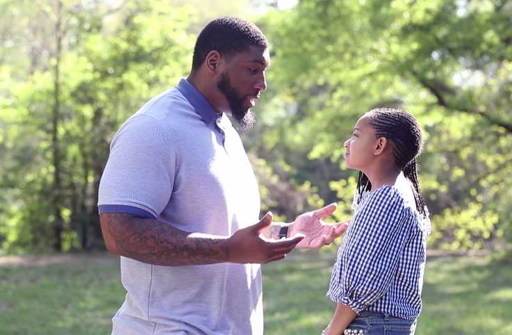 Former NFL player Devon Still and his daughter Leah