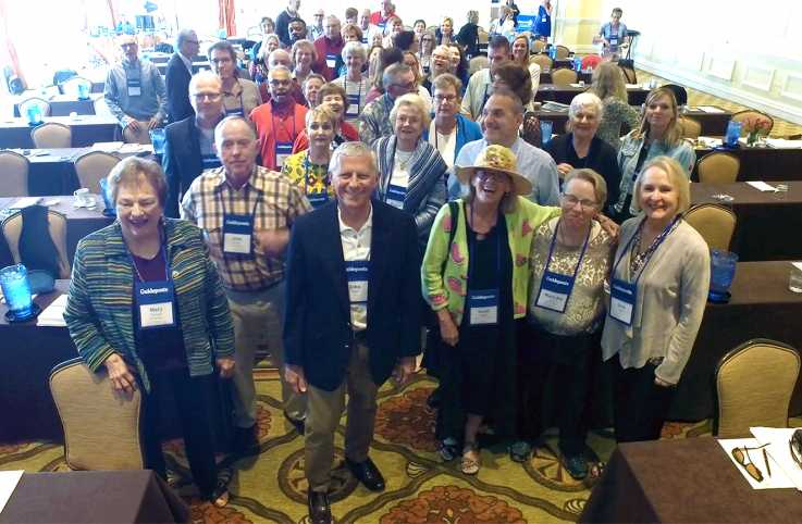 Guideposts staffers and supporters mingle at our National Cabinet Meeting