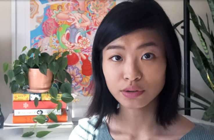 Illustrator Nicole Xu, who created the cover for the March-April 2019 issue of Angels on Earth