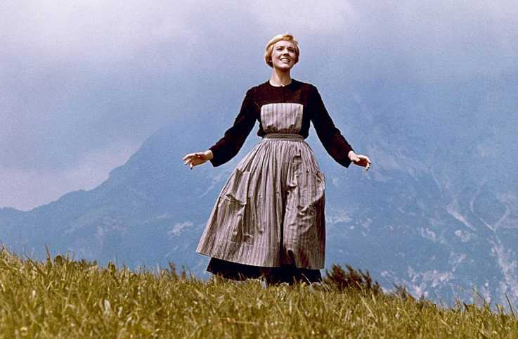 Julie Andrews in a scene from The Sound of Music