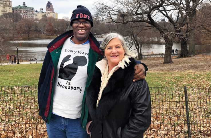 Lori Wood and Jonathan Pickard in Central Park; photo courtesy Lori Wood