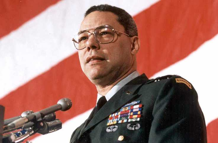 Colin Powell in 1991; Photo by Jerome Delay/Staff, Getty Images