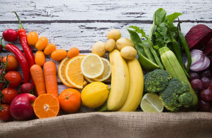 A healthy assortment of fresh fruits and vegetables