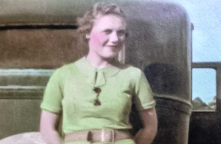 Robert Boggs mom, Melree Boggs, in 1936