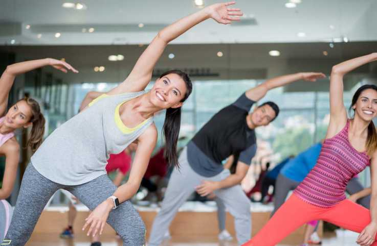 Fitness class in progress; Getty Images