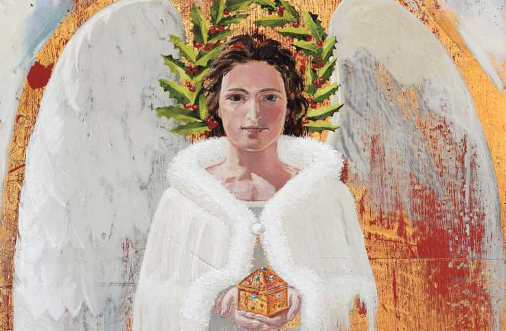 An illustration of a regal angel; Illustration by © PHIL, I2IART.COM