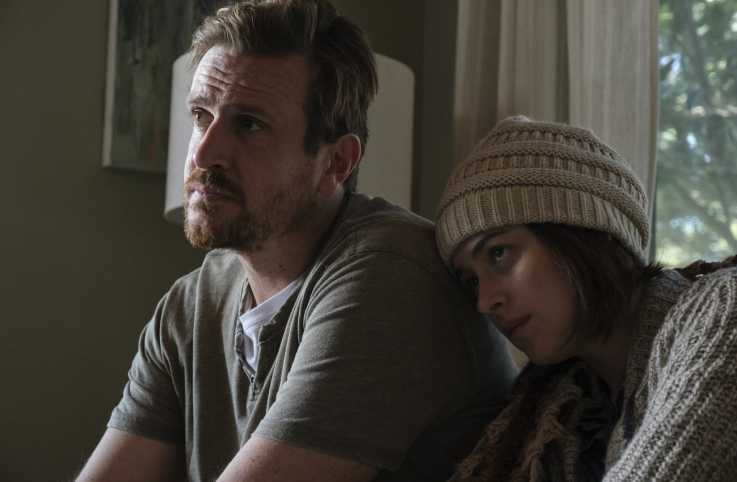 Jason Segel as Dane, Dakota Johnson as Nicole in Our Friend (Photo Credit Claire Folger)