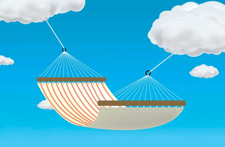 An artst's render of a heavenly hammock