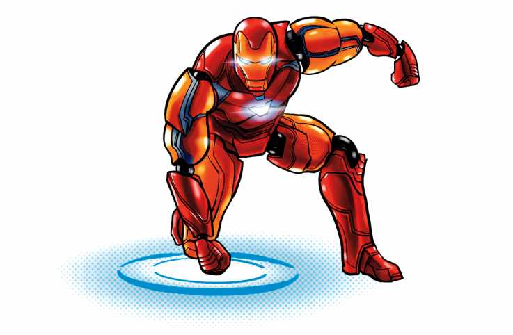 An illustration of Iron Man. Illustration by Marcelo Baez