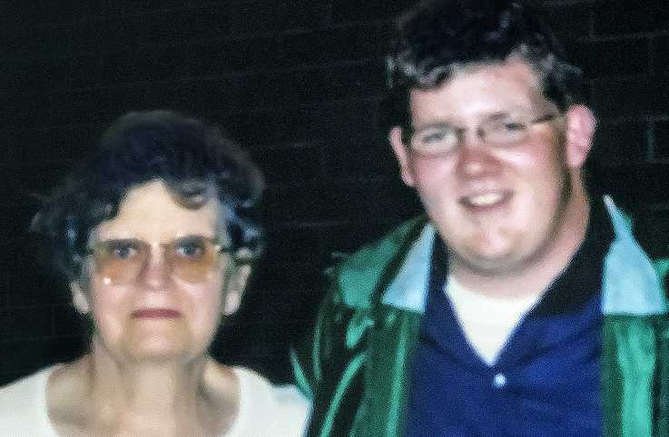 Kyle on his graduation night with Grandma Honeybunch; photo courtesy Brenda Brown