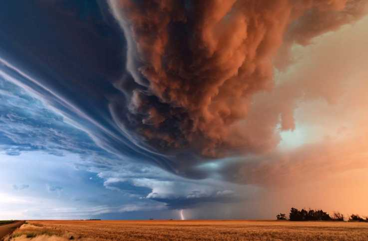 Thunderstorm clouds over Kansas; Getty Images