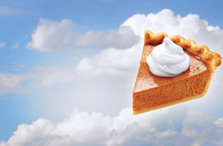 A slice of pumpkin pie in the sky. Illustration by Mike Hansen