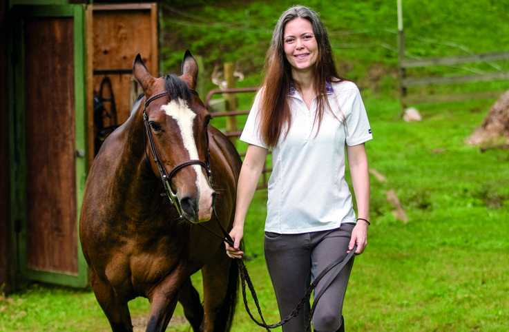 Lisa Workman and her rescue horse, Francie